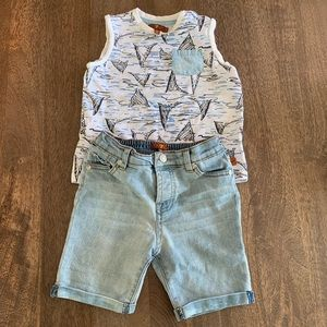 7 For All Mankind 2-piece Shorts & Shirt 🦈